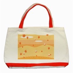 Dragonfly Leaf Orange Classic Tote Bag (red) by Mariart