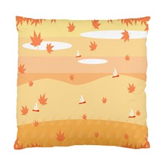 Dragonfly Leaf Orange Standard Cushion Case (two Sides) by Mariart