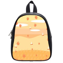 Dragonfly Leaf Orange School Bags (small)  by Mariart