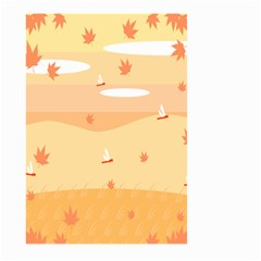 Dragonfly Leaf Orange Large Garden Flag (two Sides) by Mariart