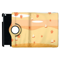Dragonfly Leaf Orange Apple Ipad 2 Flip 360 Case by Mariart