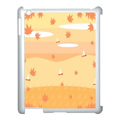 Dragonfly Leaf Orange Apple Ipad 3/4 Case (white) by Mariart