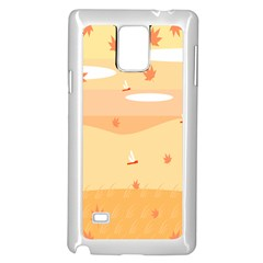 Dragonfly Leaf Orange Samsung Galaxy Note 4 Case (white) by Mariart