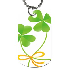Flower Floralleaf Green Reboon Dog Tag (one Side) by Mariart