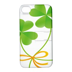 Flower Floralleaf Green Reboon Apple Iphone 4/4s Hardshell Case With Stand by Mariart