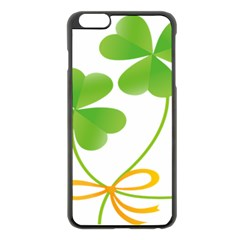Flower Floralleaf Green Reboon Apple Iphone 6 Plus/6s Plus Black Enamel Case