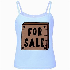 For Sale Sign Black Brown Baby Blue Spaghetti Tank by Mariart
