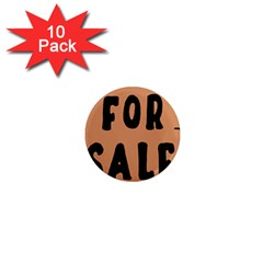 For Sale Sign Black Brown 1  Mini Magnet (10 Pack)  by Mariart