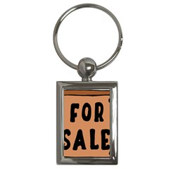 For Sale Sign Black Brown Key Chains (rectangle)  by Mariart