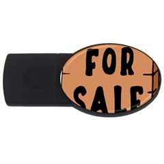 For Sale Sign Black Brown Usb Flash Drive Oval (4 Gb) by Mariart
