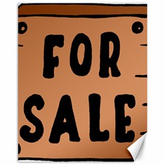 For Sale Sign Black Brown Canvas 11  X 14   by Mariart