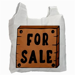 For Sale Sign Black Brown Recycle Bag (one Side) by Mariart