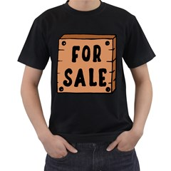 For Sale Sign Black Brown Men s T-shirt (black) by Mariart