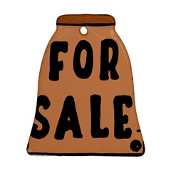 For Sale Sign Black Brown Bell Ornament (two Sides) by Mariart
