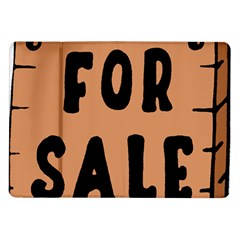 For Sale Sign Black Brown Samsung Galaxy Tab 10 1  P7500 Flip Case by Mariart