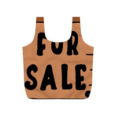For Sale Sign Black Brown Full Print Recycle Bags (s)  by Mariart
