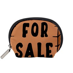 For Sale Sign Black Brown Accessory Pouches (small)  by Mariart