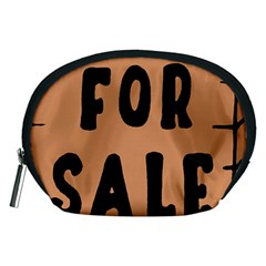 For Sale Sign Black Brown Accessory Pouches (medium)  by Mariart