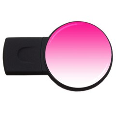 Gradients Pink White Usb Flash Drive Round (4 Gb) by Mariart