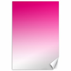 Gradients Pink White Canvas 12  X 18   by Mariart
