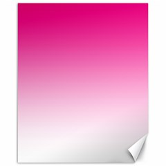 Gradients Pink White Canvas 16  X 20   by Mariart