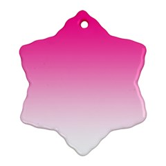 Gradients Pink White Ornament (snowflake)