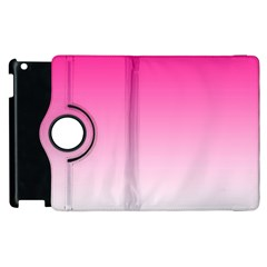 Gradients Pink White Apple Ipad 3/4 Flip 360 Case by Mariart