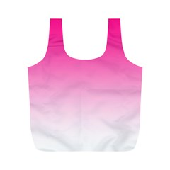 Gradients Pink White Full Print Recycle Bags (m)  by Mariart