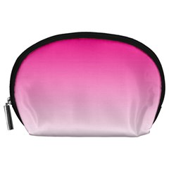 Gradients Pink White Accessory Pouches (large)  by Mariart