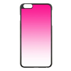 Gradients Pink White Apple Iphone 6 Plus/6s Plus Black Enamel Case by Mariart