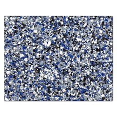 Electric Blue Blend Stone Glass Rectangular Jigsaw Puzzl by Mariart