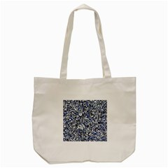 Electric Blue Blend Stone Glass Tote Bag (cream) by Mariart