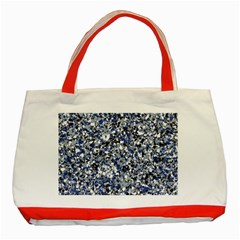 Electric Blue Blend Stone Glass Classic Tote Bag (red) by Mariart
