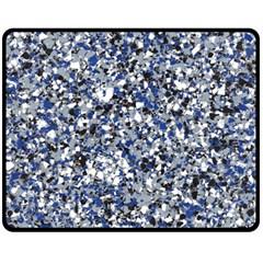 Electric Blue Blend Stone Glass Fleece Blanket (medium)  by Mariart