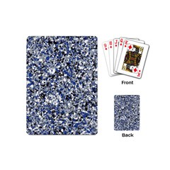 Electric Blue Blend Stone Glass Playing Cards (mini)  by Mariart