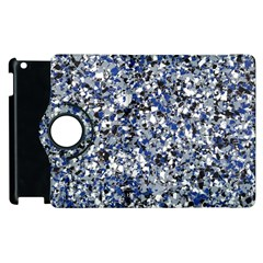 Electric Blue Blend Stone Glass Apple Ipad 3/4 Flip 360 Case by Mariart