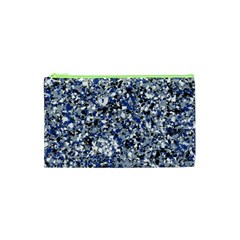 Electric Blue Blend Stone Glass Cosmetic Bag (xs) by Mariart