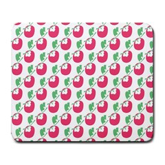 Fruit Pink Green Mangosteen Large Mousepads by Mariart
