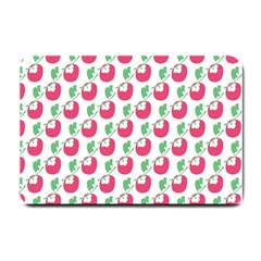 Fruit Pink Green Mangosteen Small Doormat  by Mariart