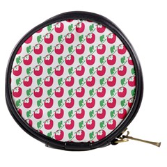 Fruit Pink Green Mangosteen Mini Makeup Bags by Mariart