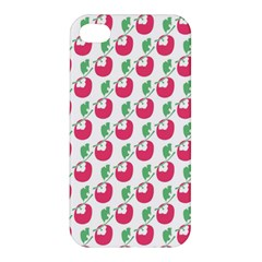 Fruit Pink Green Mangosteen Apple Iphone 4/4s Premium Hardshell Case by Mariart