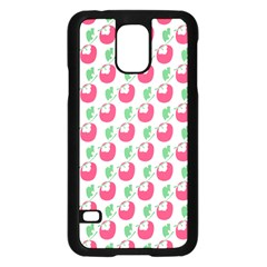 Fruit Pink Green Mangosteen Samsung Galaxy S5 Case (black) by Mariart