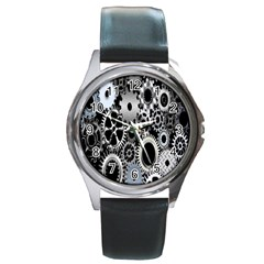 Gears Technology Steel Mechanical Chain Iron Round Metal Watch by Mariart