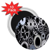 Gears Technology Steel Mechanical Chain Iron 2 25  Magnets (10 Pack)  by Mariart