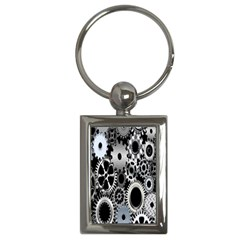Gears Technology Steel Mechanical Chain Iron Key Chains (rectangle)  by Mariart