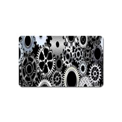 Gears Technology Steel Mechanical Chain Iron Magnet (name Card) by Mariart