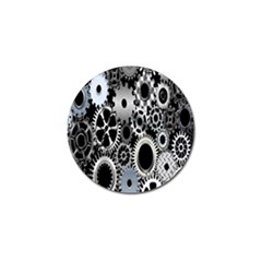 Gears Technology Steel Mechanical Chain Iron Golf Ball Marker (10 Pack) by Mariart