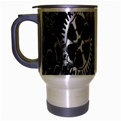 Gears Technology Steel Mechanical Chain Iron Travel Mug (silver Gray) by Mariart