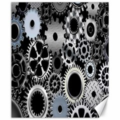 Gears Technology Steel Mechanical Chain Iron Canvas 8  X 10  by Mariart