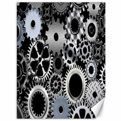 Gears Technology Steel Mechanical Chain Iron Canvas 36  X 48   by Mariart